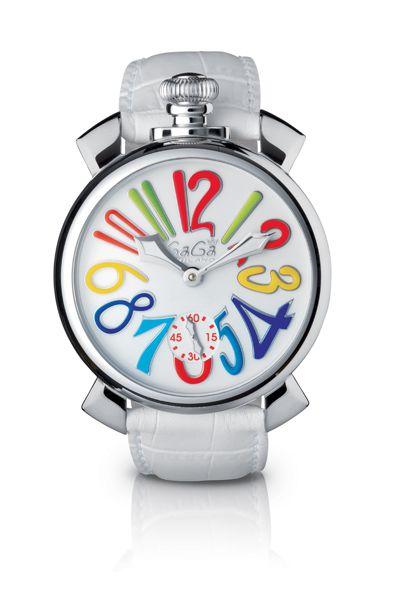 Relógio Gagá  Milano Masculino Branco - Manuale 48mm Stell - 501001S