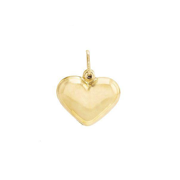 Pingente Coração Bojudo em Ouro 18k