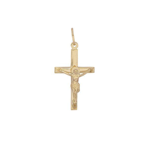 Pingente Cruz com Cristo em Ouro 18k