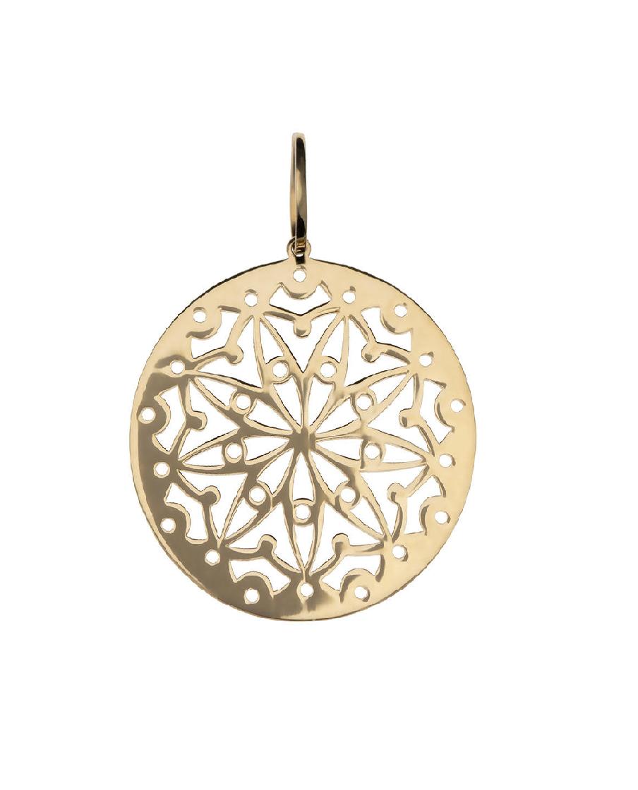 Pingente Mandala  Vazada em Ouro 18k