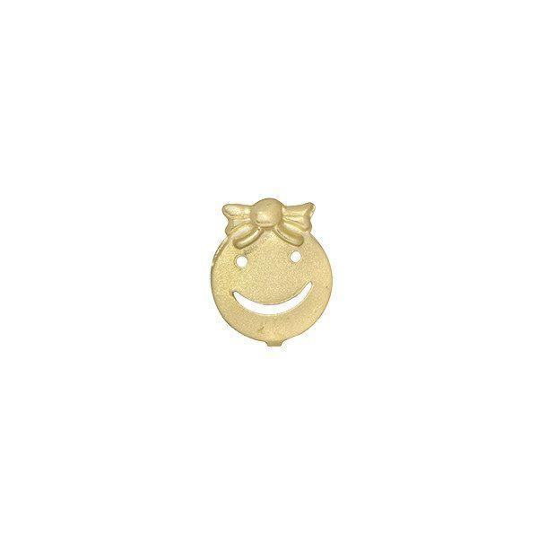 Pingente Menina Vazado em Ouro 18k