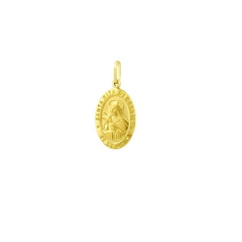 Pingente Santa Rita de Cassia em Ouro 18k