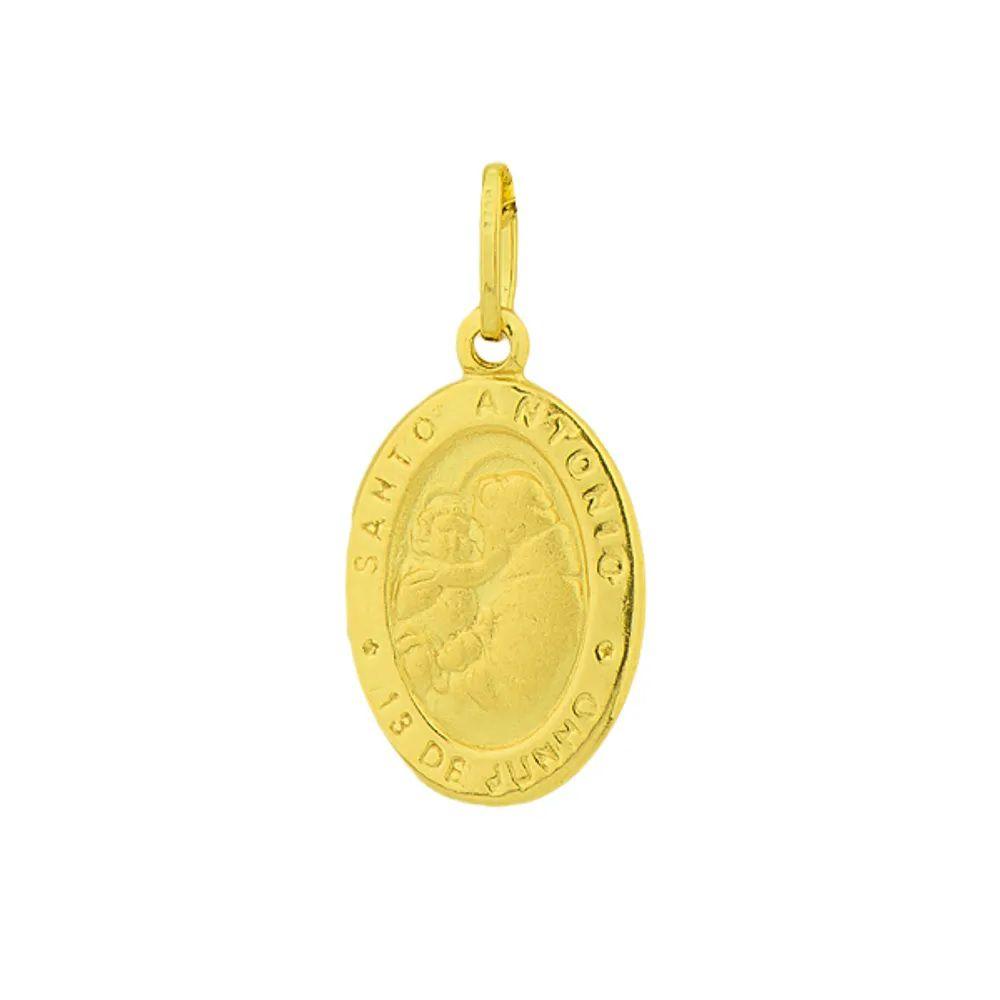 Pingente Santo Antonio em Ouro 18k