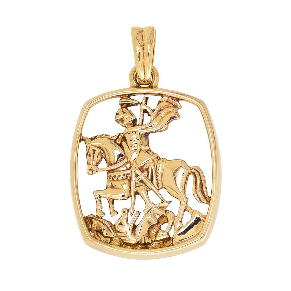 Pingente São Jorge em Ouro 18k