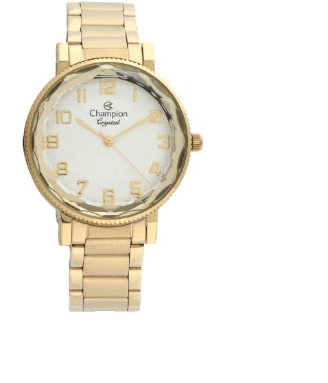 Relógio Champion Feminino Dourado - Crystal - CN25596H