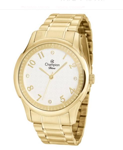 Relógio Champion Feminino Dourado - Diva - CN26402H