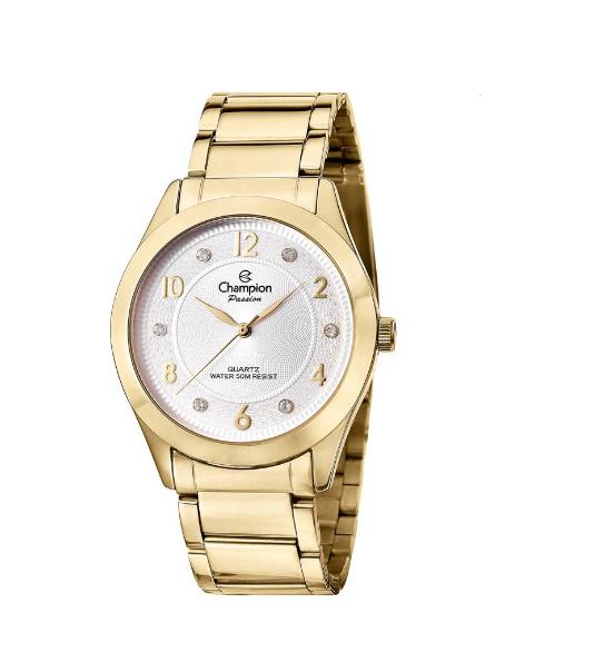 Relógio Champion Feminino Dourado - Passion - CN29230H