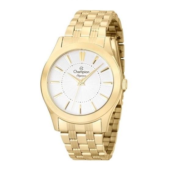 Relógio Champion Elegance Feminino Dourado