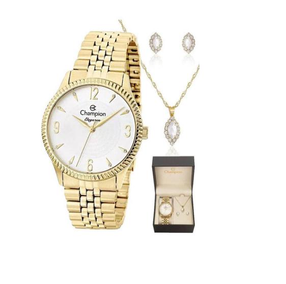 Relógio Champion Feminino Dourado - Elegance - CN26073W