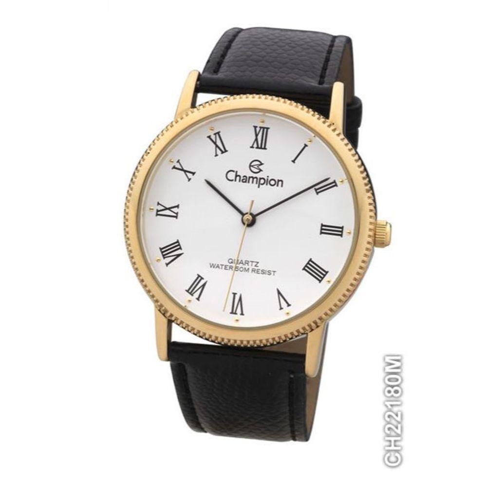 Relógio Champion Unissex Dourado Com Pulseira Preta - CH22180M
