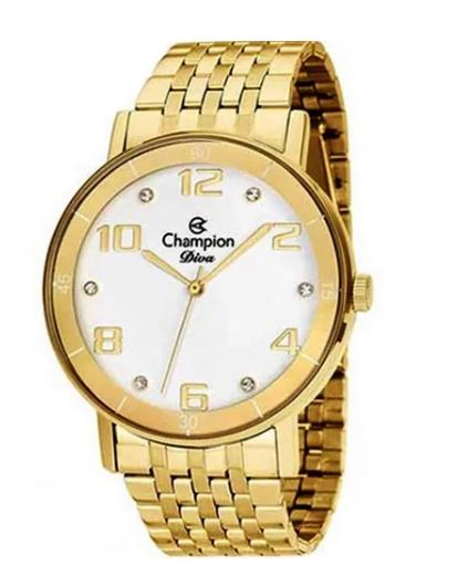 Relógio Champion Feminino Dourado  -  Diva - CN26671H