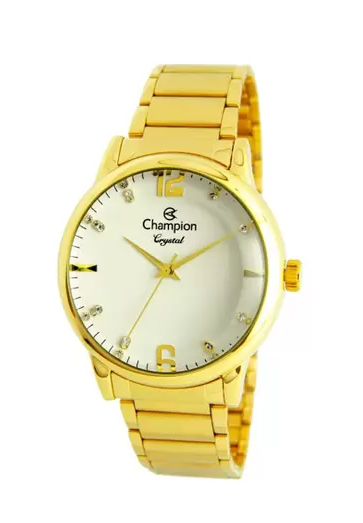 Relógio Champion Feminino Dourado - Crystal - CN25529H