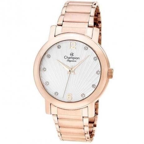 Relógio Champion Feminino Casual Rosé