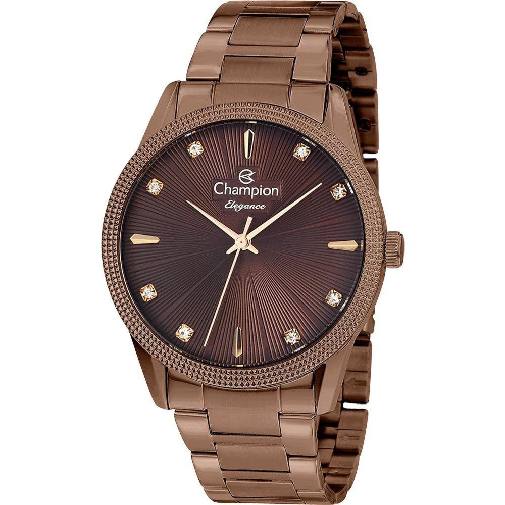 Relógio Champion Feminino Chocolate Elegance  Analógico