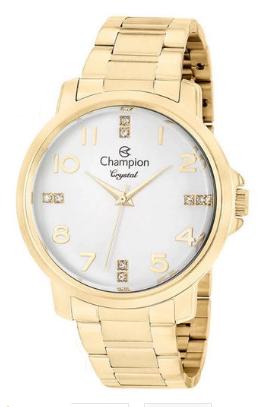 Relógio Champion Feminino Dourado - Crystal - CN25565