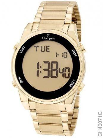 Relógio Champion Feminino Dourado - Digital - CH40071G