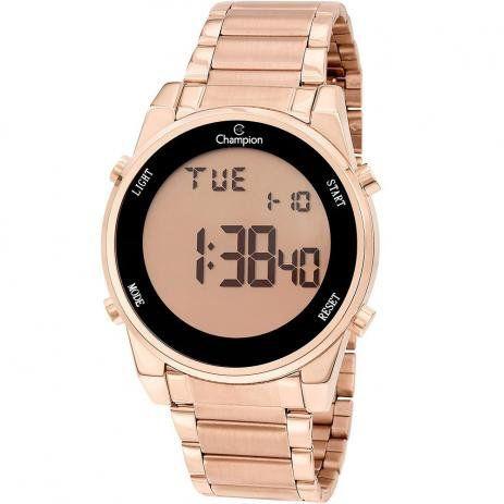 Relógio Champion Feminino Digital Rosé