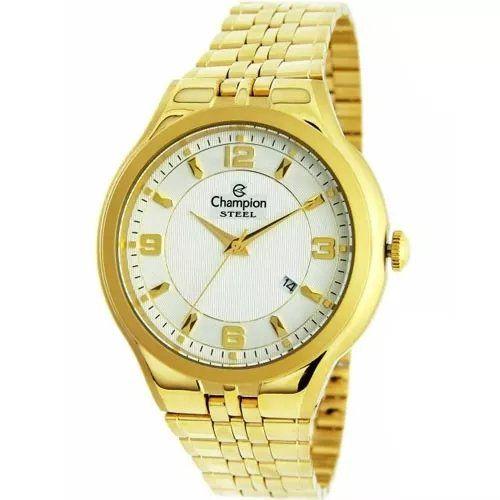Relógio Champion Feminino Dourado - Steel - CA21633H