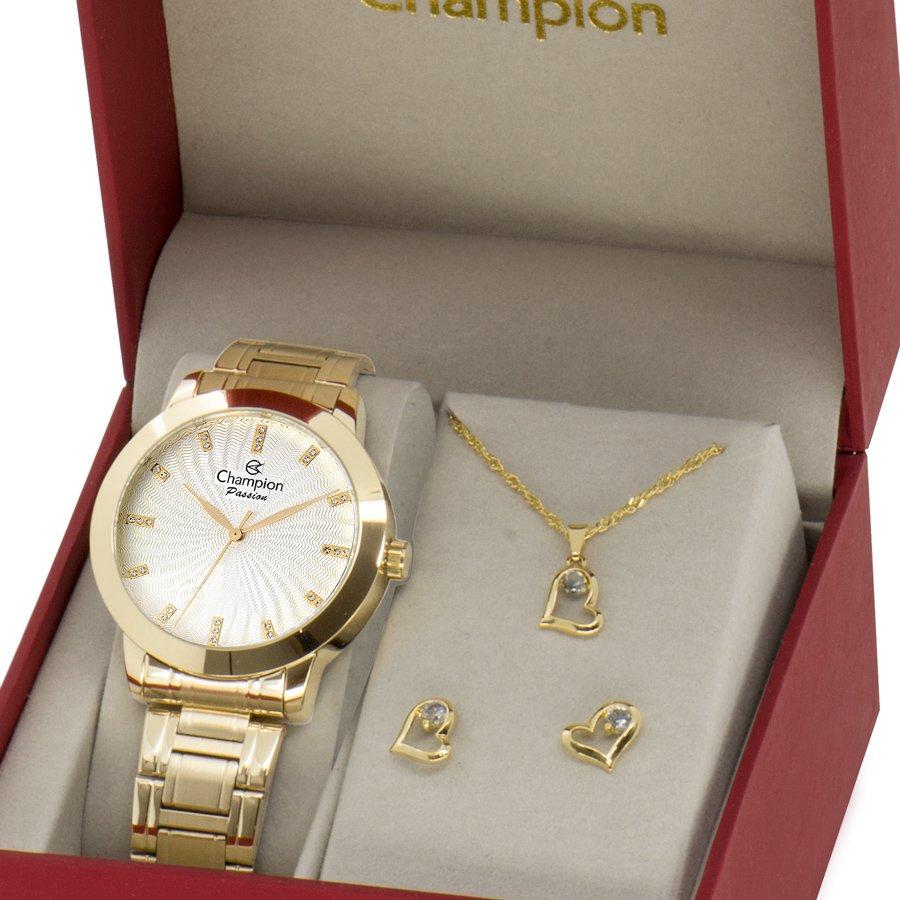 Relógio Champion Feminino Dourado - Passion - CN29276B