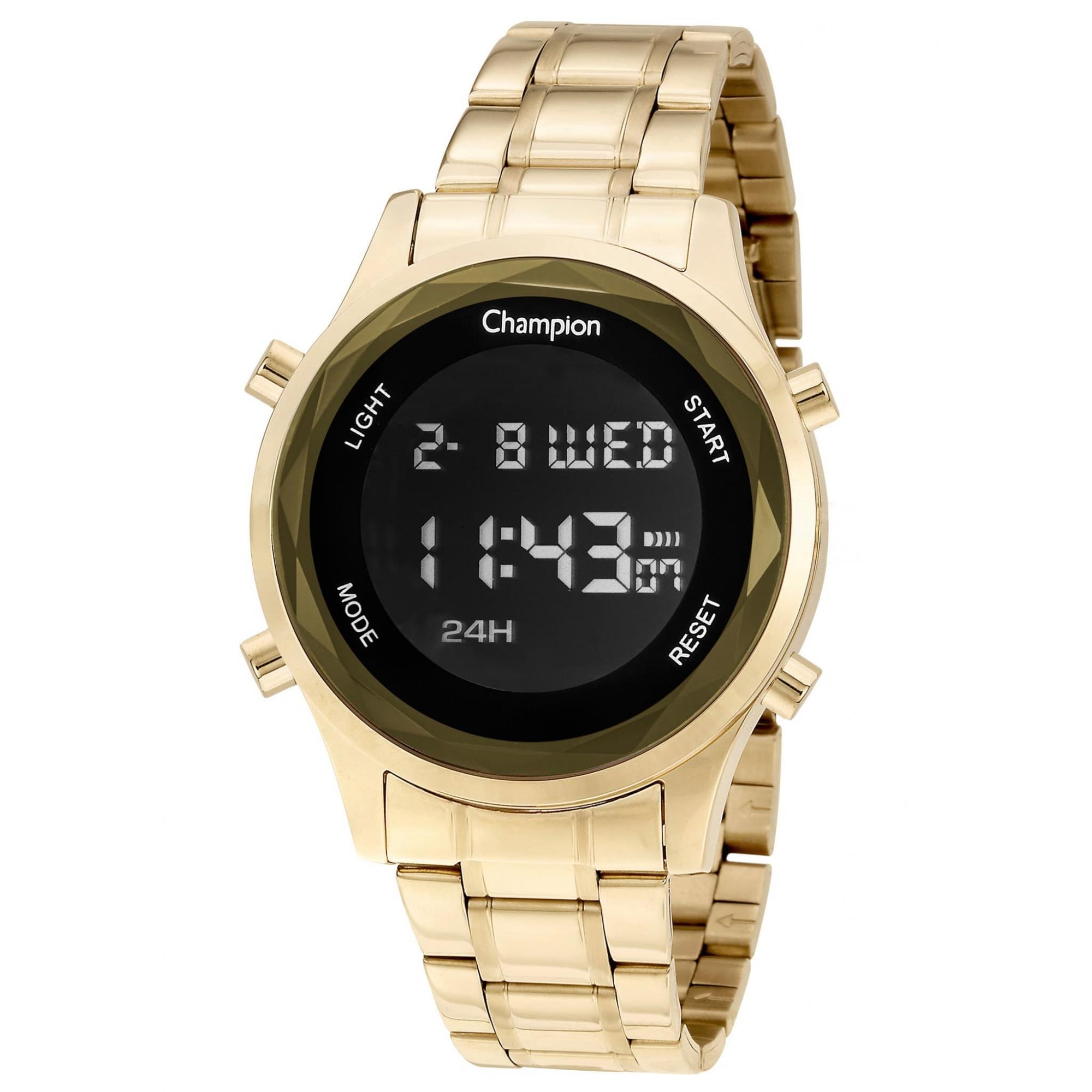 Relógio Champion Feminino Dourado Digital - CH48108H