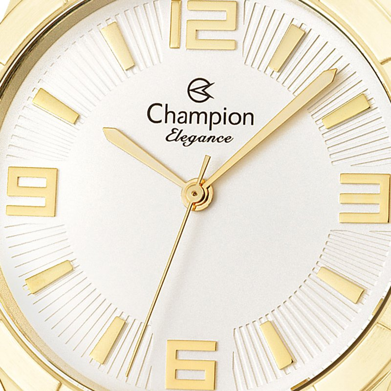 Relógio Champion Feminino Dourado + Kit Colar e Brincos - CN25154W