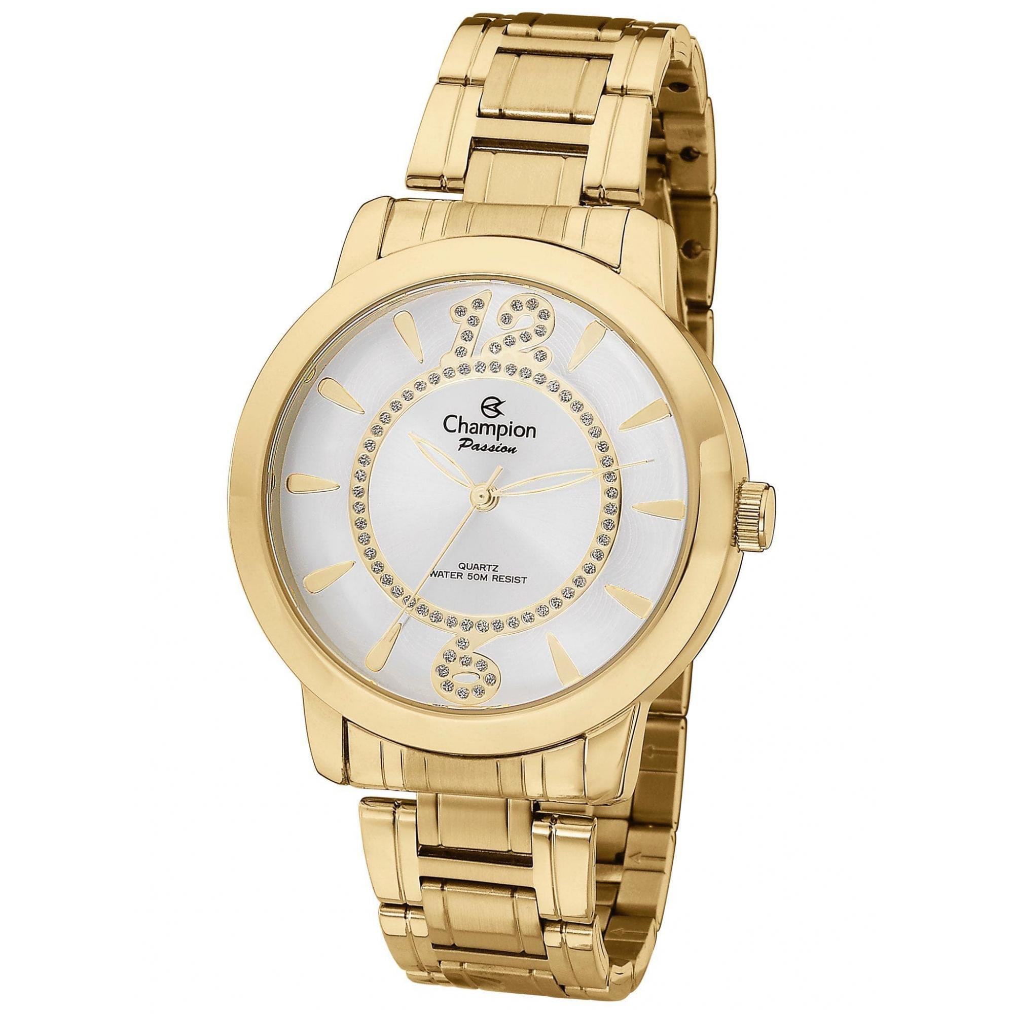 Relógio Champion Feminino Dourado - Passion - CH24259H