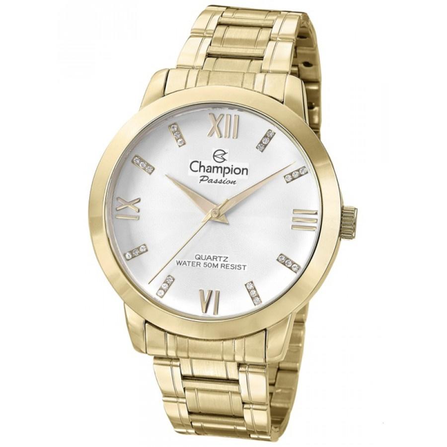 Relógio Champion Feminino Dourado - Passion - CN29169H