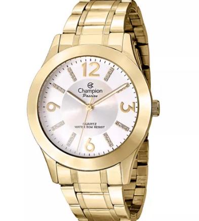 Relógio Champion Feminino Dourado - Passion - CN29418H