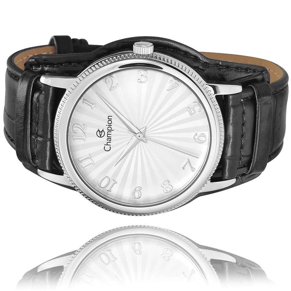 Relógio Champion Feminino Prata + Kit Colar e Brincos - CN20300C