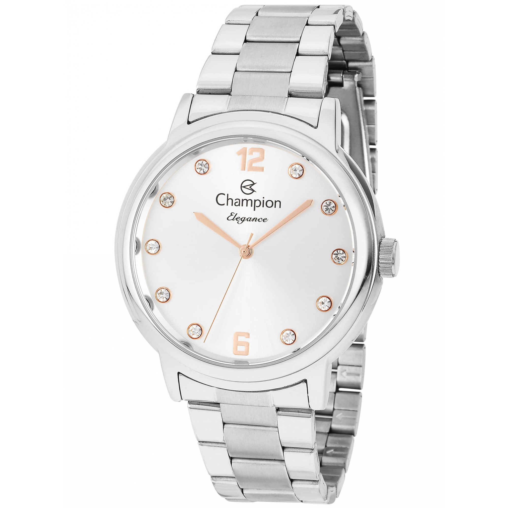 Relógio Champion Feminino Prateado - Elegance - CN28437Q