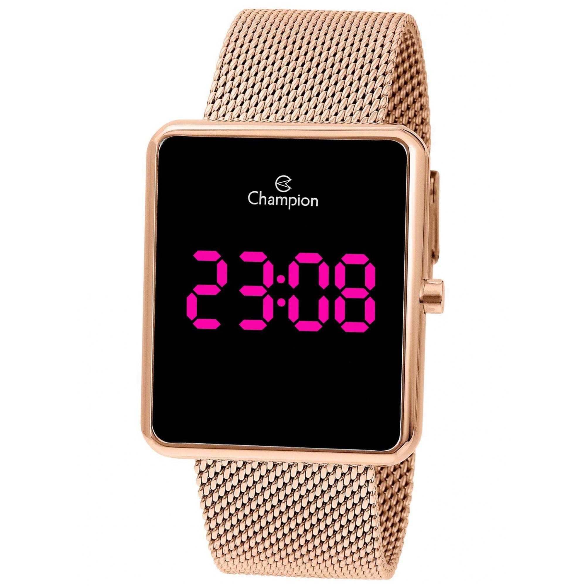 Relógio Champion Feminino  Rosê Digital - CH40080H