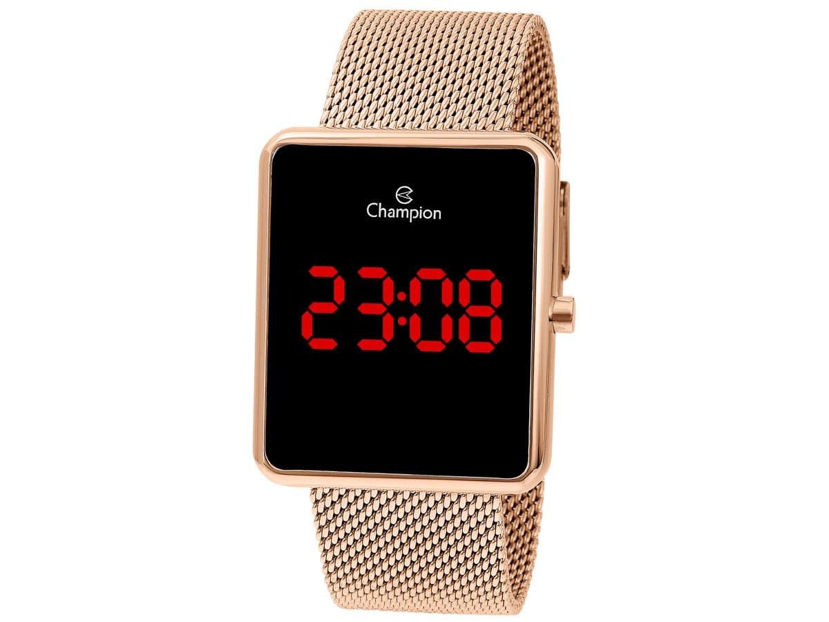 Relógio Champion Feminino Rosè - Digital Led - CH40080P