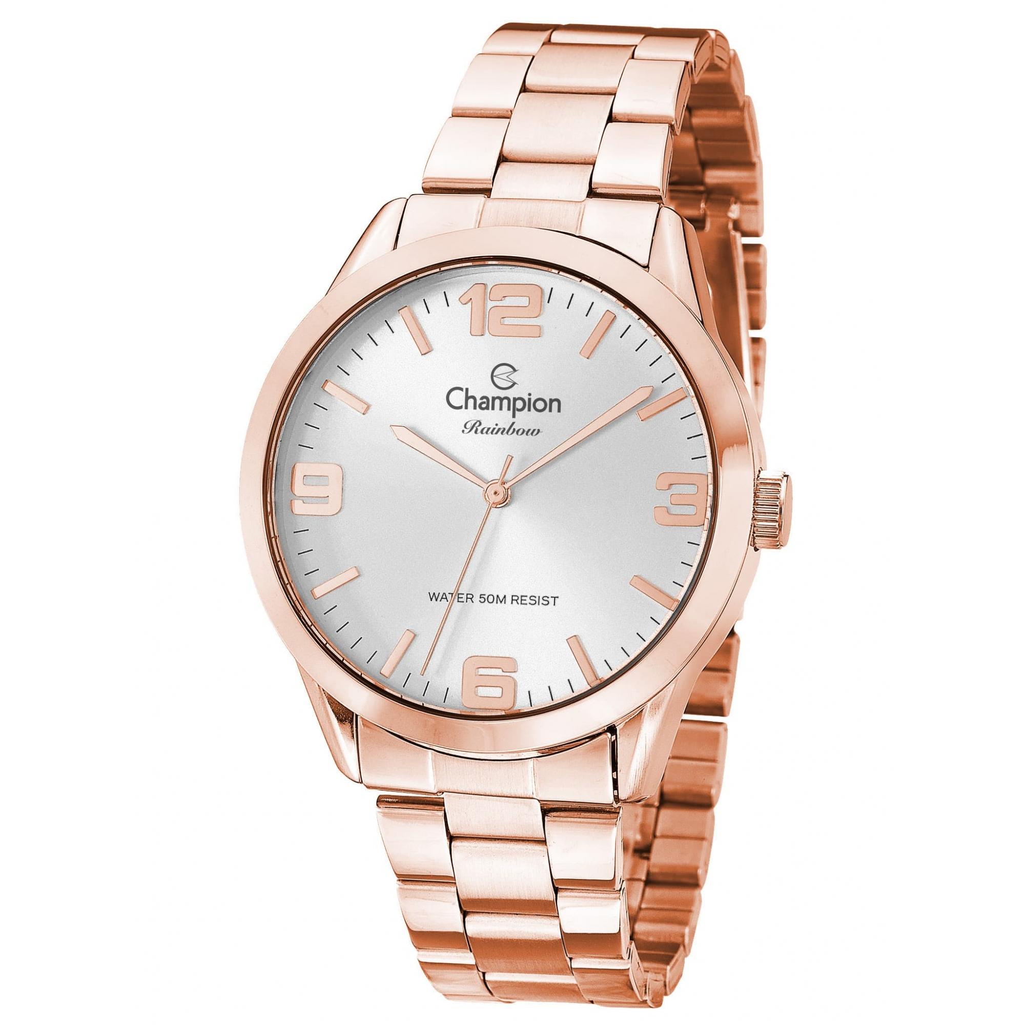 Relógio Champion Feminino Rosé - Rainbow - CN29893Z