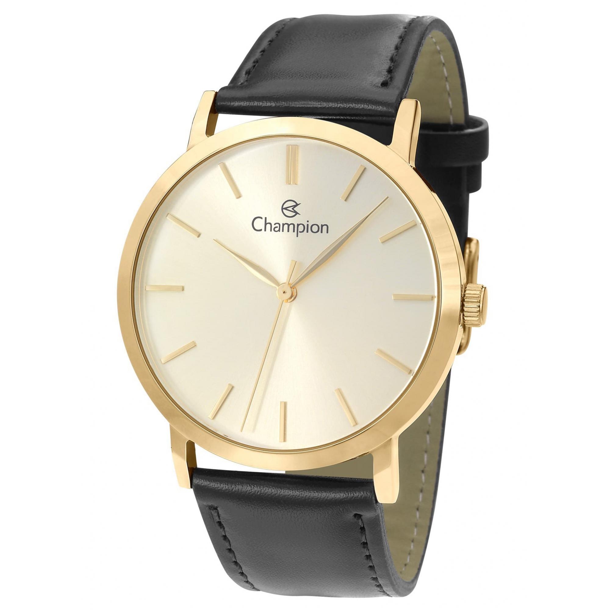 Relógio Champion Masculino Dourado - CN20677X