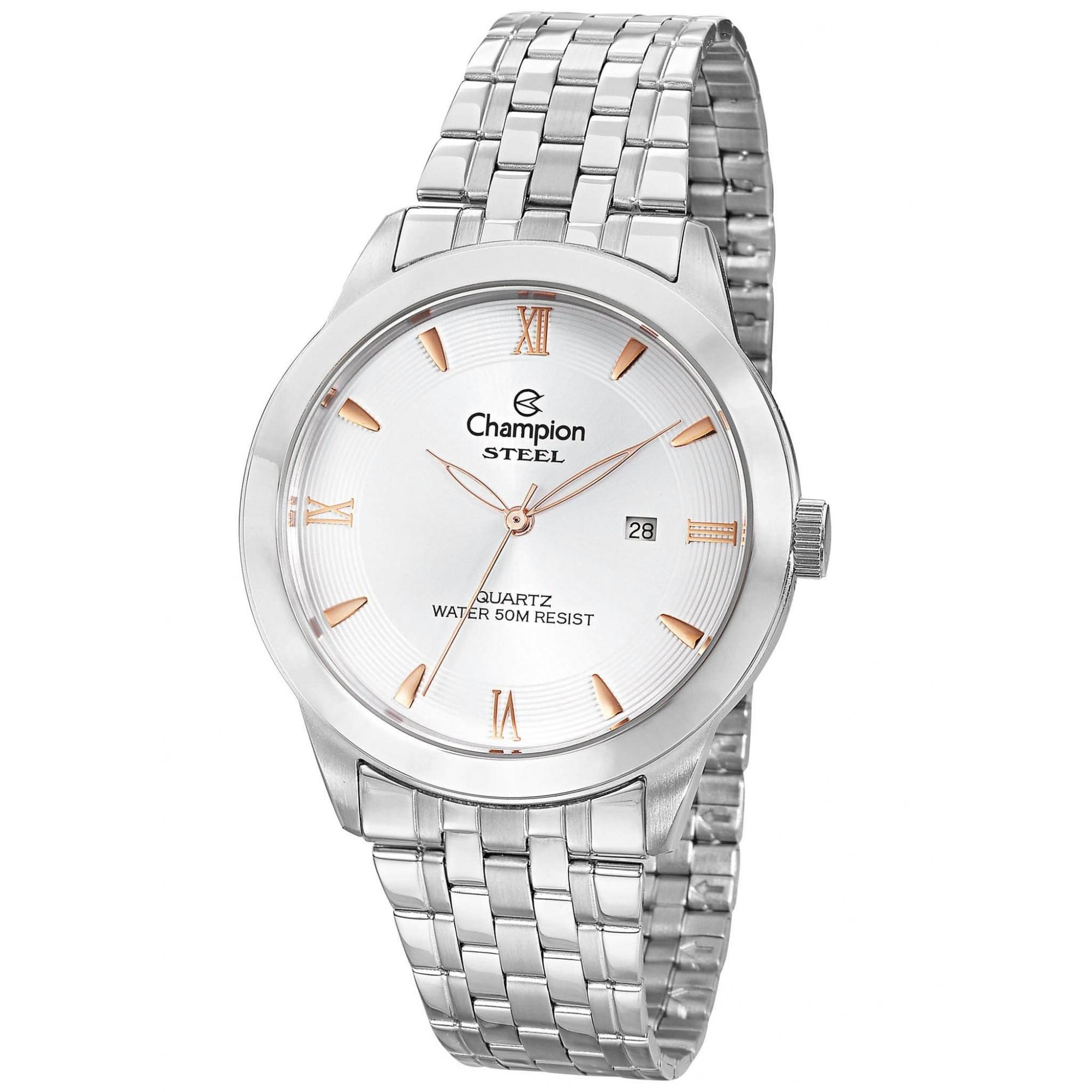 Relógio Champion Masculino Prateado - Stell - CA21599Q