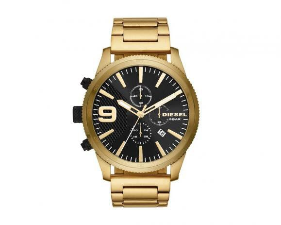 Relógio Diesel Masculino Dourado Analógico