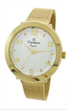 Relógio Champion Feminino Dourado - Crystal - CN25207H