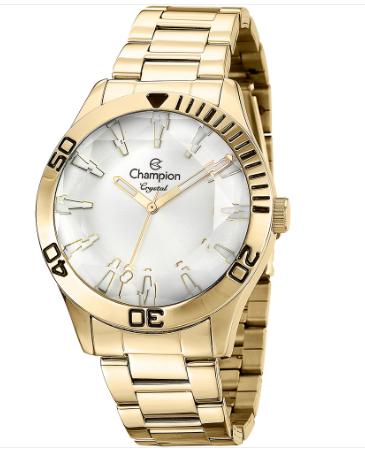 Relógio Champion Feminino Dourado - Crystal - CN27214H