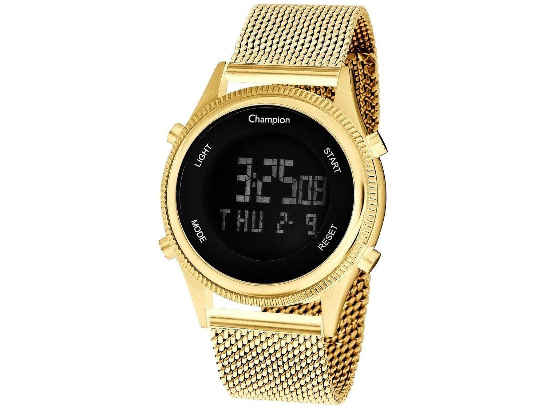 Relógio Feminino Champion Digital Esportivo Dourado
