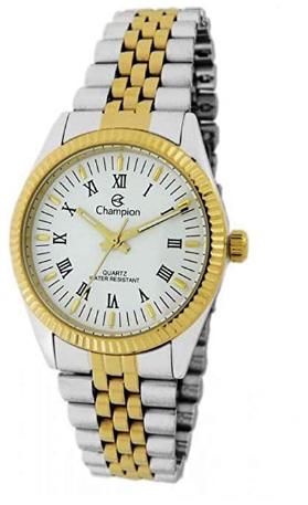 Relógio Feminino Prata Com Dourado Champion