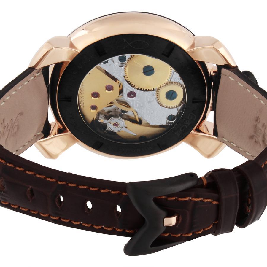 Relógio Gagá Milano Masculino Croco Gold - Manuale 48mm - 501401S