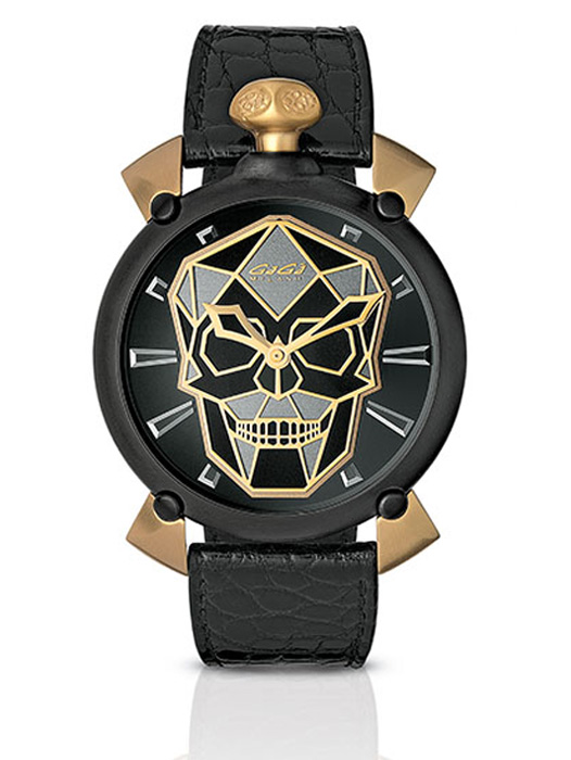 Relógio Gagá Milano Masculino Gold - Bionic Skull Automatic - 6314
