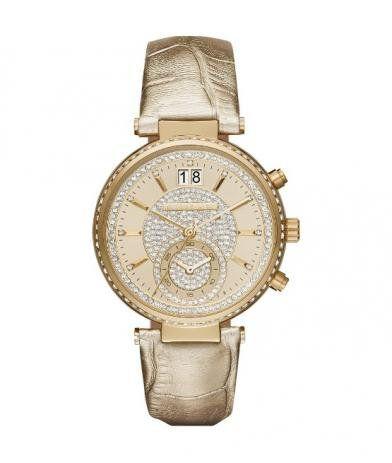 Relógio Michael Kors Feminino Couro Dourado