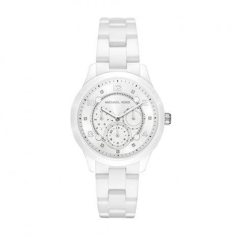 Relógio Michael Kors Feminino Runway Branco