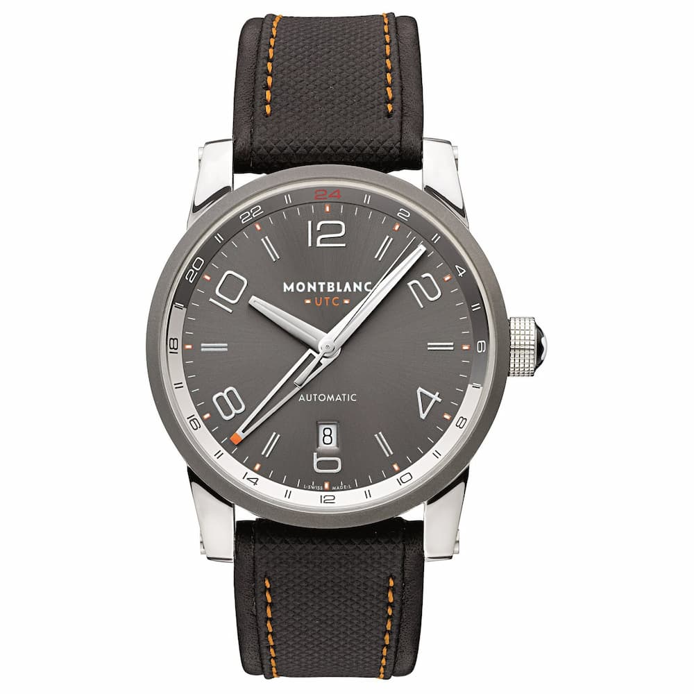 Relógio Montblanc Masculino Preto - Timewalker Voyager - 109137