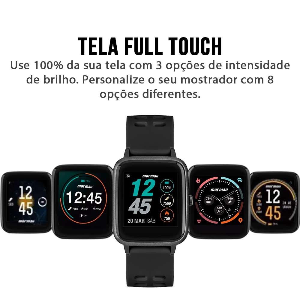 Relógio Mormaii Preto - Smartwatch - Molifeab/8p