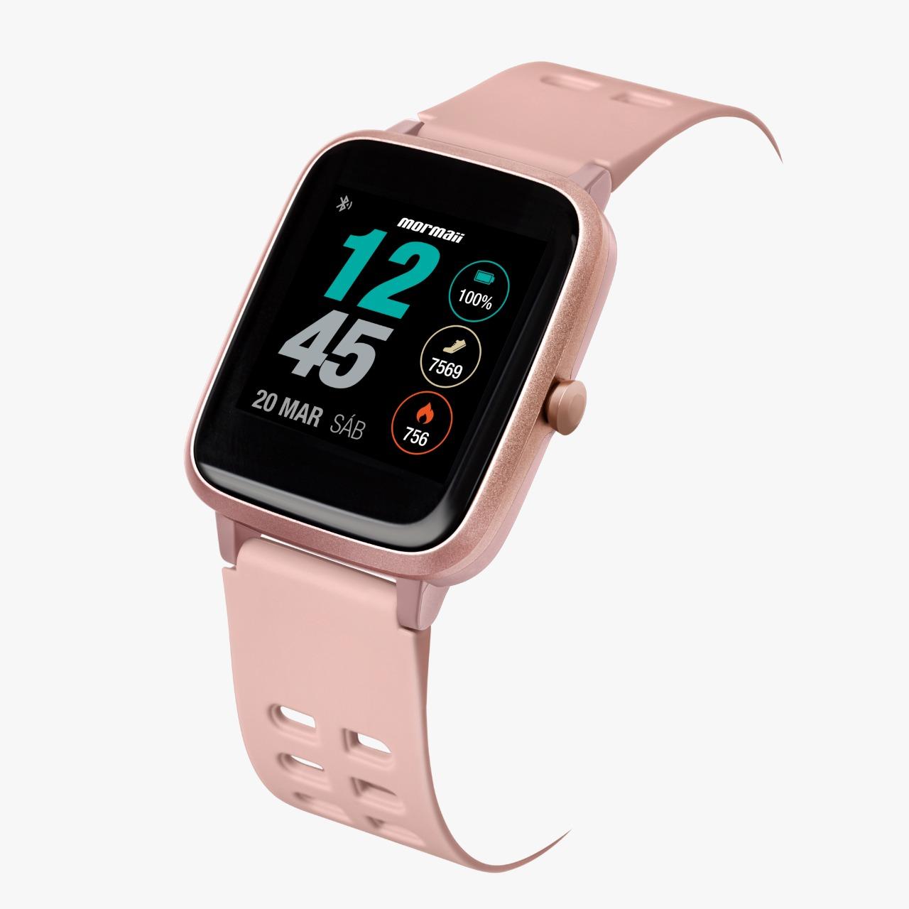 Relógio Mormaii Rosé - Smartwatch - Molifeaa/8j