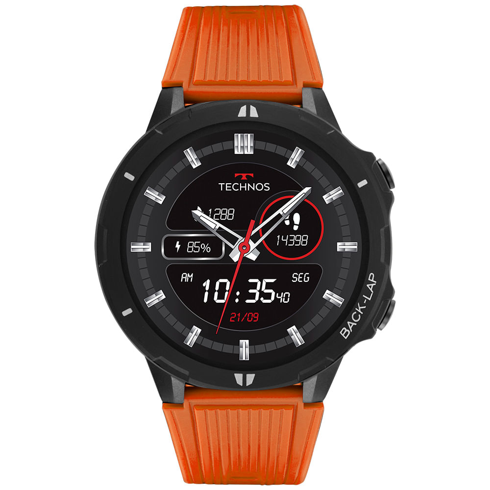 Relógio SmartWatch Technos Preto - Connect Sports - TSPORTSAB/8L
