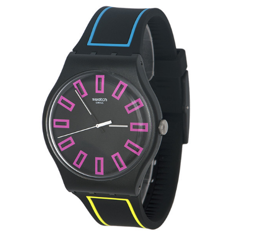 Relógio Swatch Silicone Preto