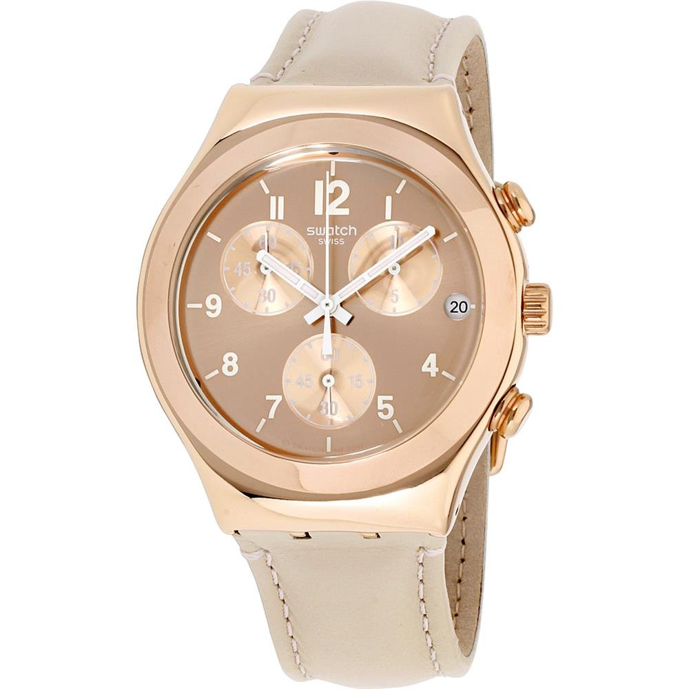 Relógio Swatch Feminino - Bege -Precious - YCG416